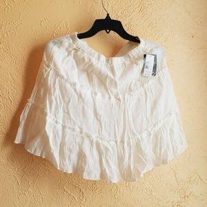 Heartsoul white stretchy M skirt